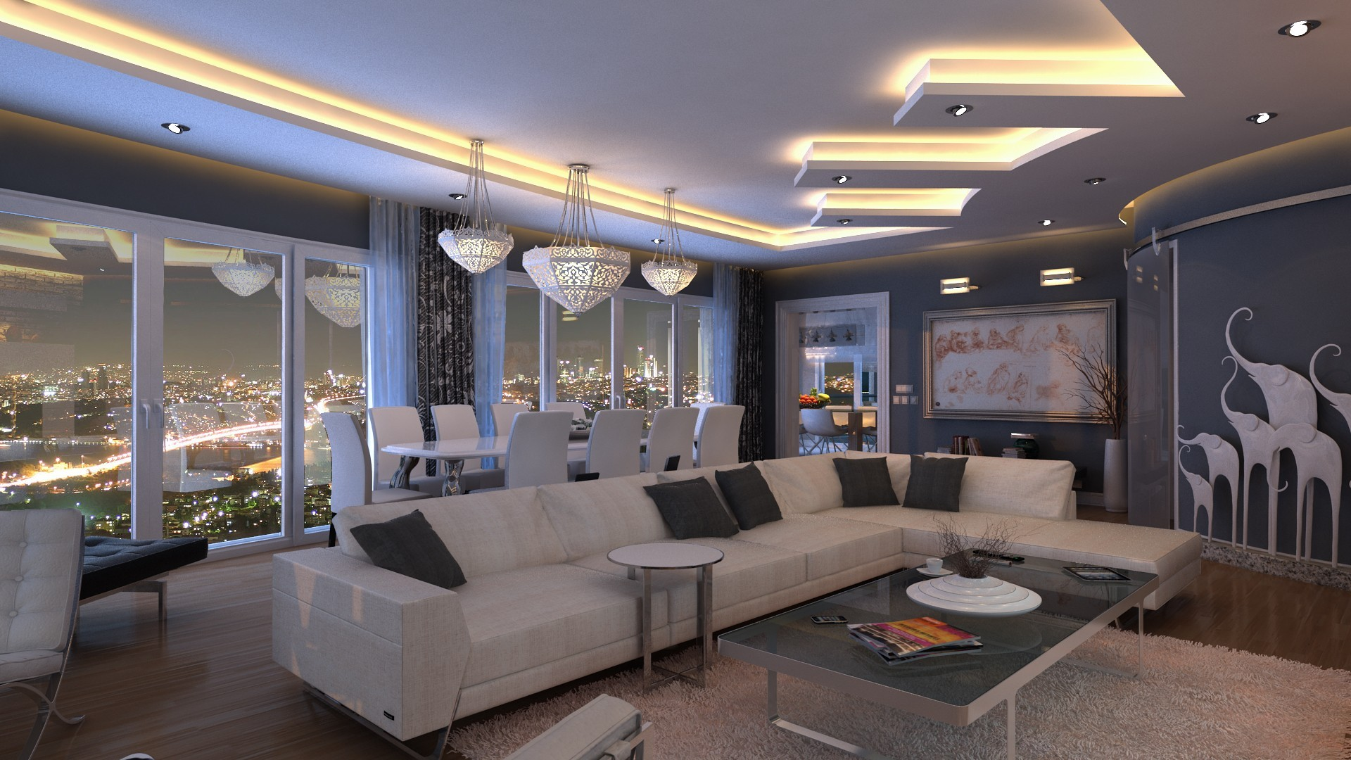 Wallpaper Cityscape Indoors Yacht Interior Design Living Rooms Lobby Home Condominium Mansion Property Real Estate Living Room 1920x1080 Pol45 186709 Hd Wallpapers Wallhere