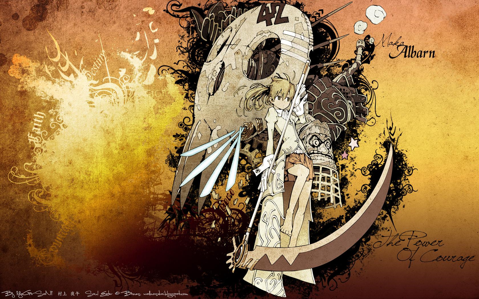 illustration anime girls soul eater