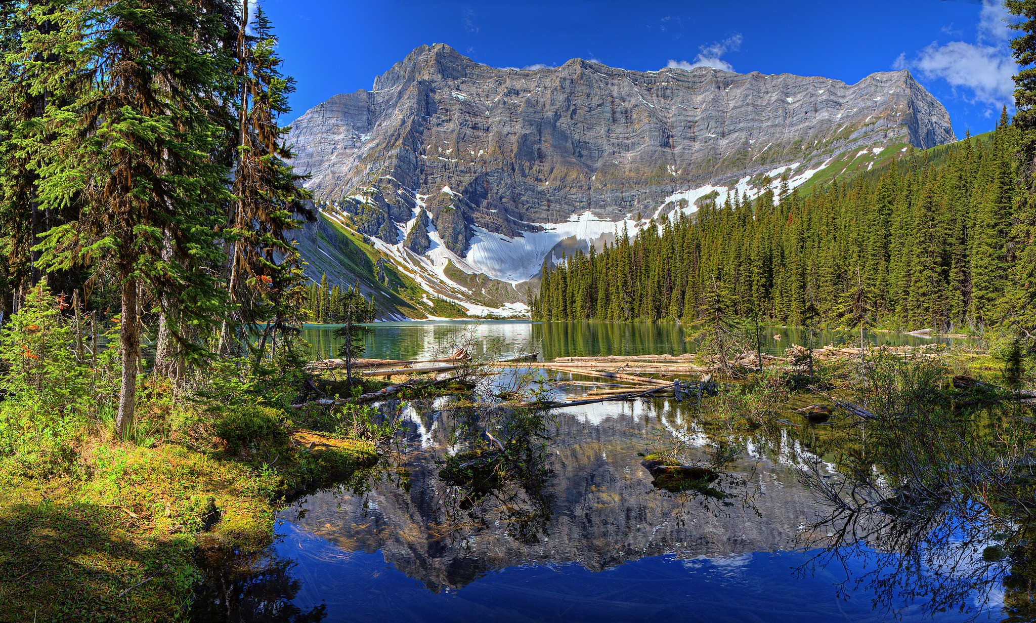 Wallpaper Landscape Forest Mountains Lake Nature