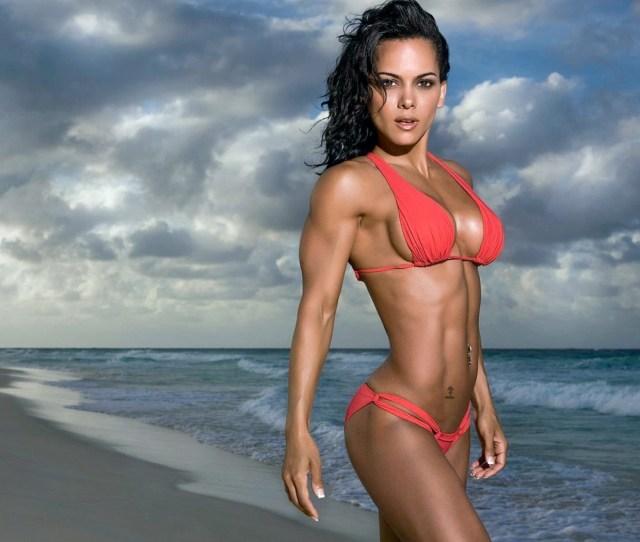 Model Sea Looking At Viewer Beach Tattoo Skinny Fitness Model Piercing Bikini Boobs Abs Swimwear Clothing