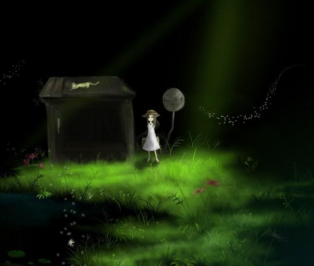 Night Anime Building Reflection Grass Photography Green Art Light Lighting Darkness Screenshot Computer Wallpaper Atmosphere Of