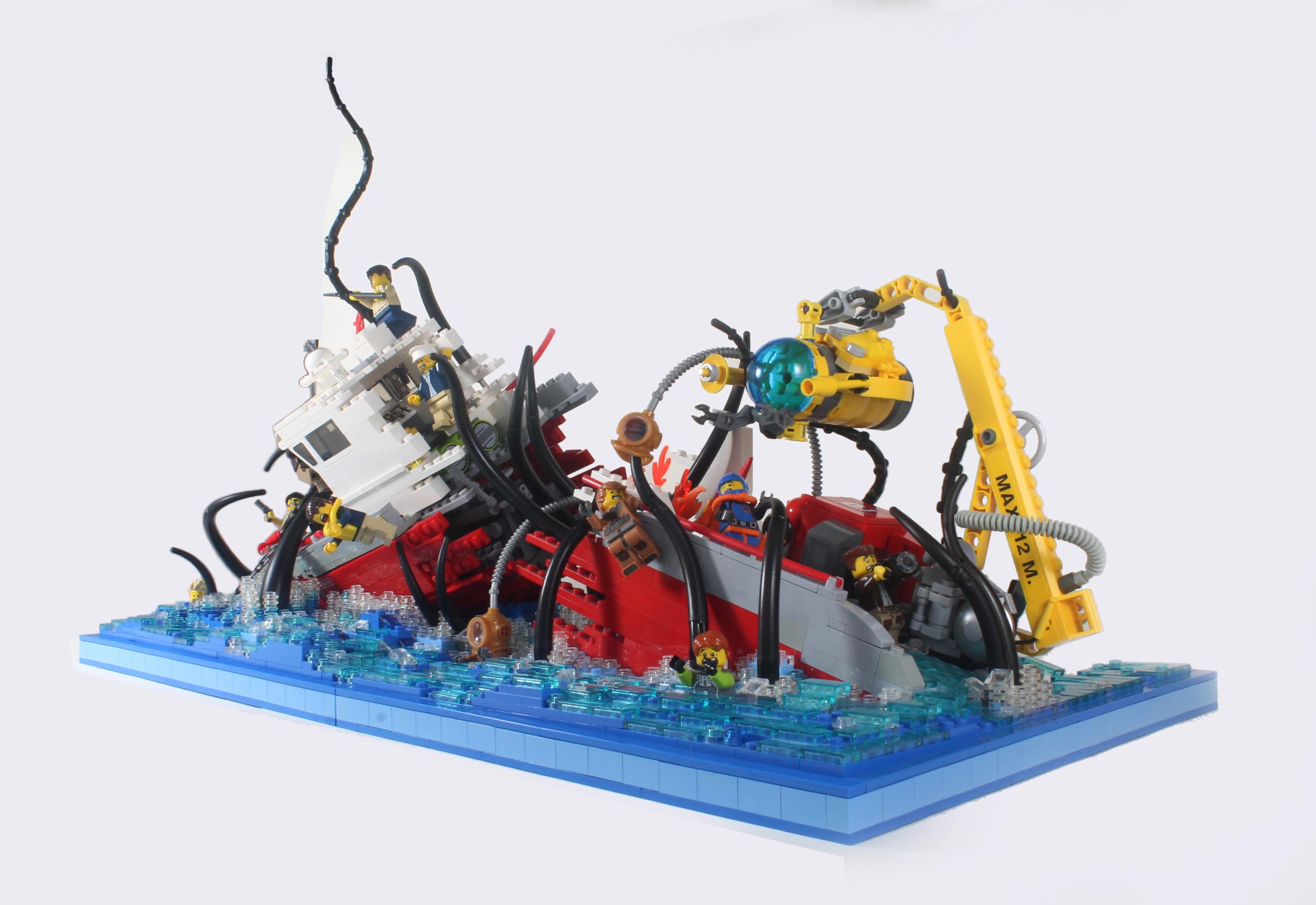 wallpaper : ship, boat, sea, wreck, lego, toy, submarine