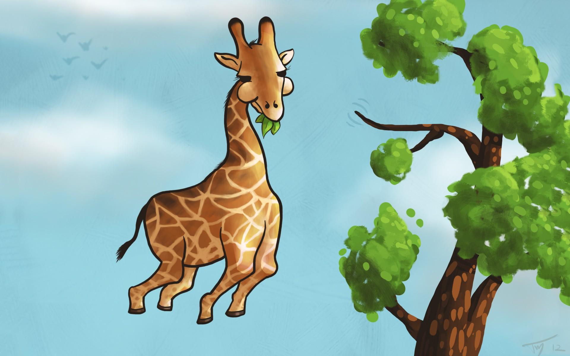Hintergrundbilder Baume Illustration Tiere Humor Blauer