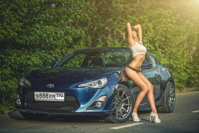 Wallpaper Model High Heels Road Big Boobs Women With Cars Lingerie Sports Car Toyota Gt86 Coupe Toyota 86 Wheel Land Vehicle Automotive Design