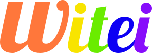 Logo en texto de Witei con colores