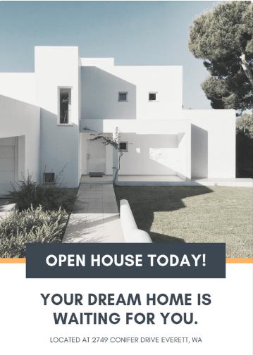 Diseño de cartel inmobiliario para un open house