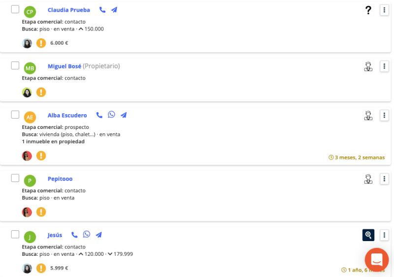 base de datos de clientes