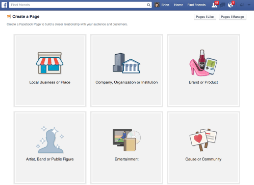 create your page on facebook - hiperativo - Facebook