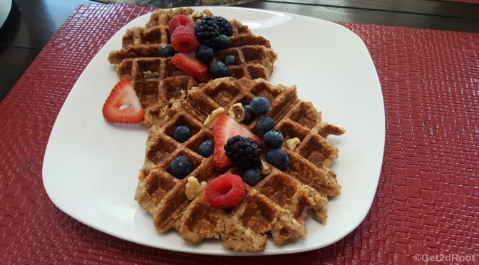Banana-Apple-Oat Waffles