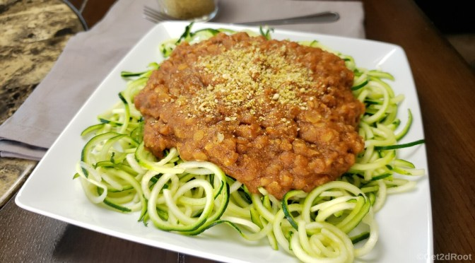 LENTIL TOMATO SAUCE WITH ZOODLES