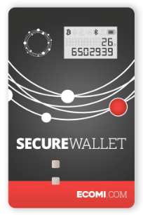 ecomi secure wallet front face photo