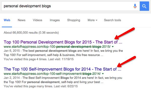 personal development blogs