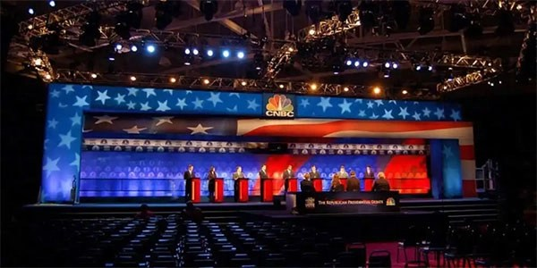 CNBC Presidential Debate – Graphic Design/Production Setup For Eddie Knasiak Design