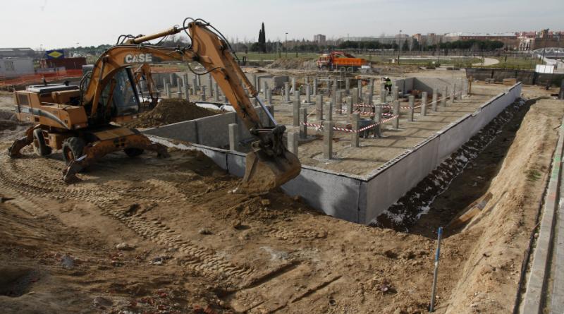 Las obras del nuevo colegio de los molinos contin an a for Como llegar a getafe