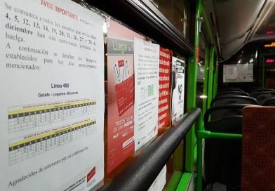 Continúan los paros de los autobuses de Avanza durante diciembre