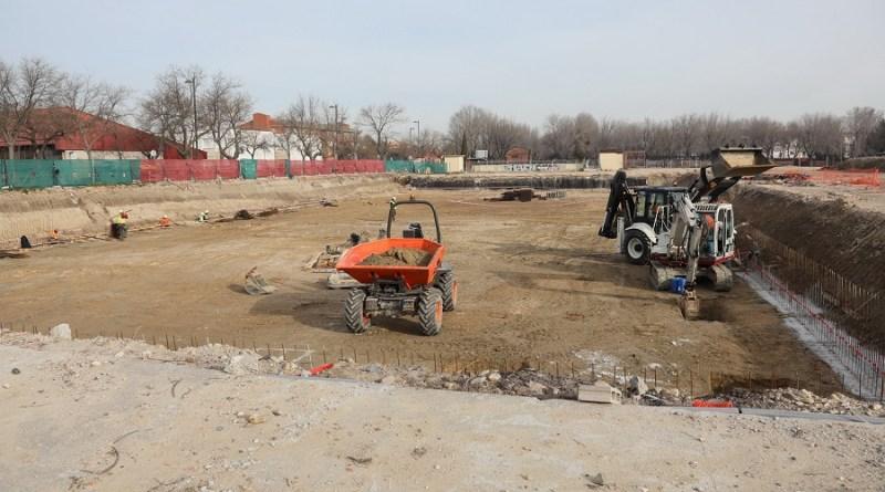 La cimentación de las obras del polideportivo San Isidro avanza a buen ritmo