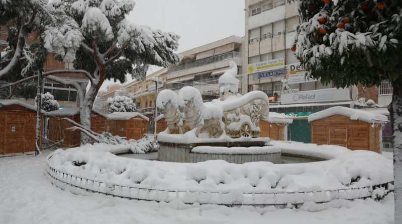 Así luce Getafe tras una nevada histórica