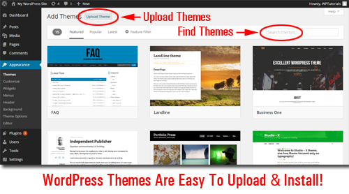 What is a WordPress Theme - How to install & upload