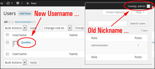 How To Change Your WP Admin User Name To A Different Username