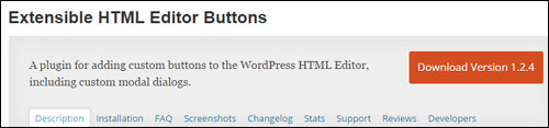 Extensible HTML Editor Buttons