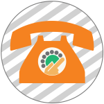 Orange telephone illustration
