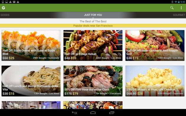 Groupon - Daily Deals, Coupons android widget