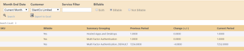 Billing - Aggregated view
