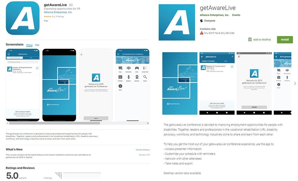 getAwareLive!2019ConferenceApp IsAvailable for Download