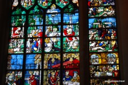 Stained glass in Joan of Arc Church
