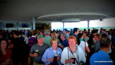 Tasting room on the top floor - has the best views of Dublin