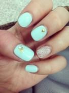nails did #TiffanyBlue
