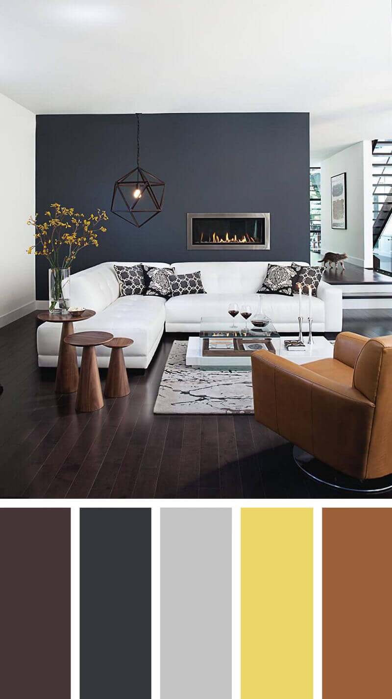 Great Blue Grey Color Scheme Living Room #livingroomcolorschemes  #livingroomcolorcombination