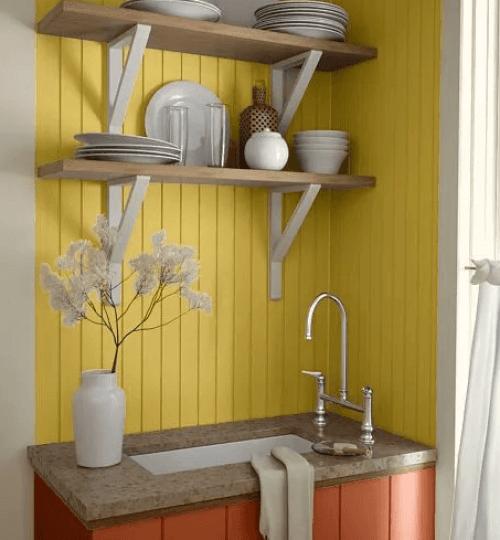 Nice kitchen design for small space #smallkitchenremodel #smallkitchenideas