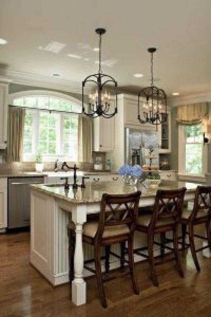 Lovely lighting above kitchen island #kitchenlightingideas #kitchencabinetlighting