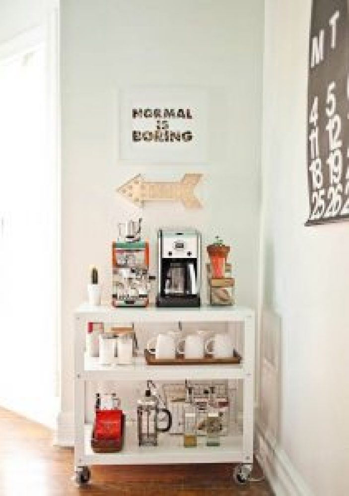 Surprising coffee station ideas for small kitchen #coffeestationideas #homecoffeestation #coffeebar