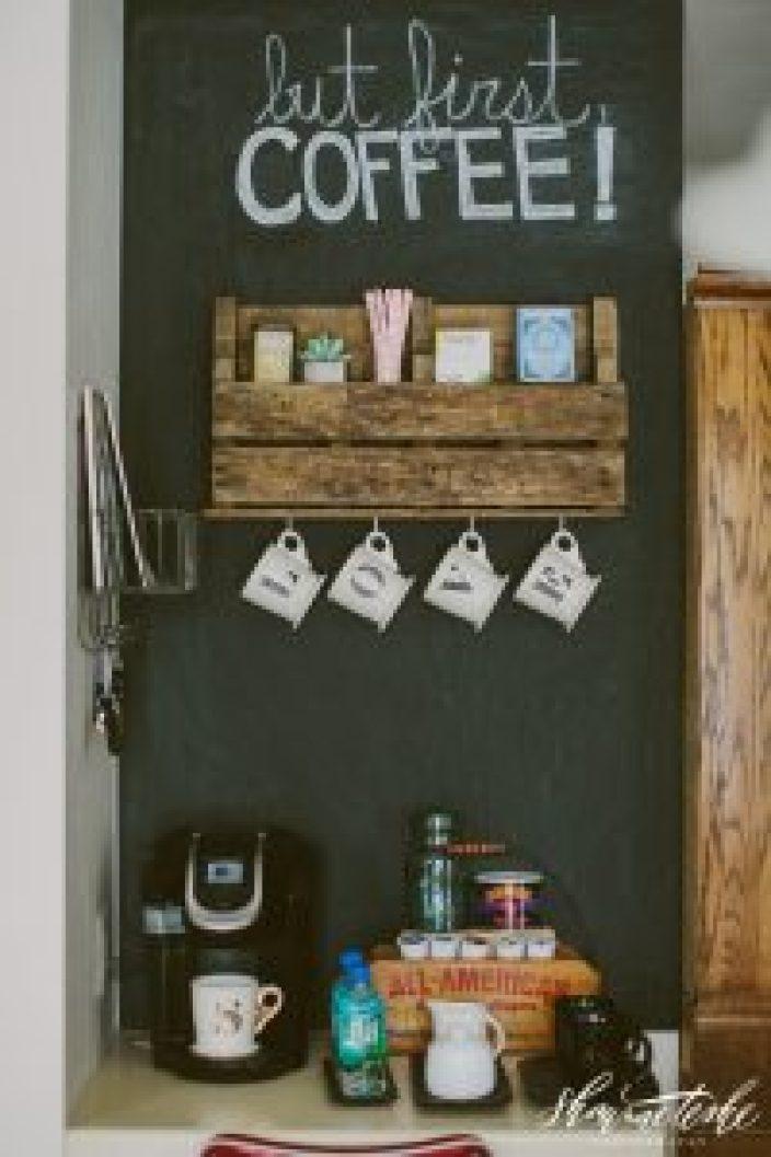 Stunning bakers rack coffee station ideas #coffeestationideas #homecoffeestation #coffeebar
