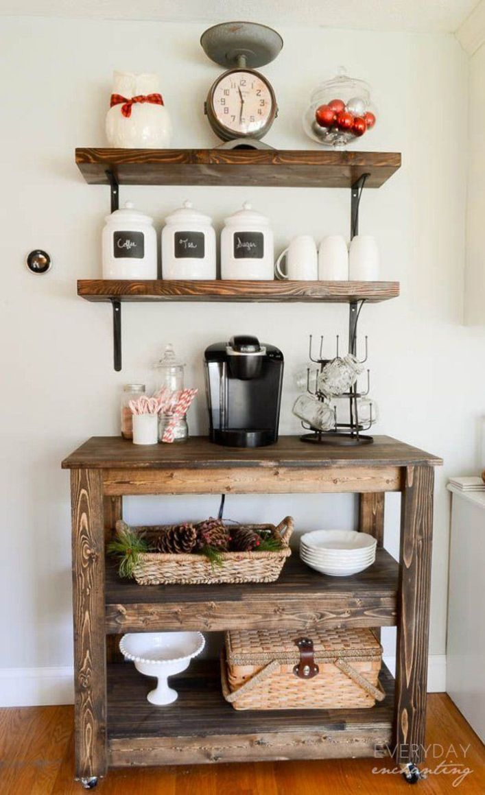 Gorgeous work coffee station ideas #coffeestationideas #homecoffeestation #coffeebar