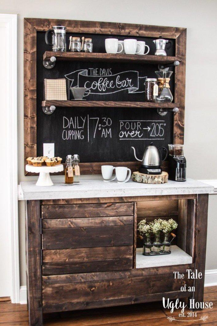 Miraculous cute coffee station ideas #coffeestationideas #homecoffeestation #coffeebar