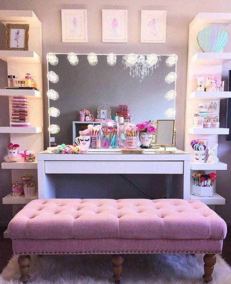 Delight ikea dressing table #makeuproomideas #makeupstorageideas #diymakeuporganizer