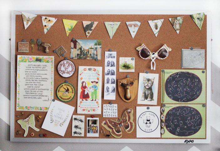 Glorious cork bulletin board #corkboardideas #bulletinboardideas #walldecor