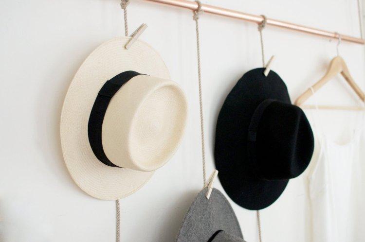Delight hanging hat rack ideas #diyhatrack #hatrackideas #caprack #hanginghatrack