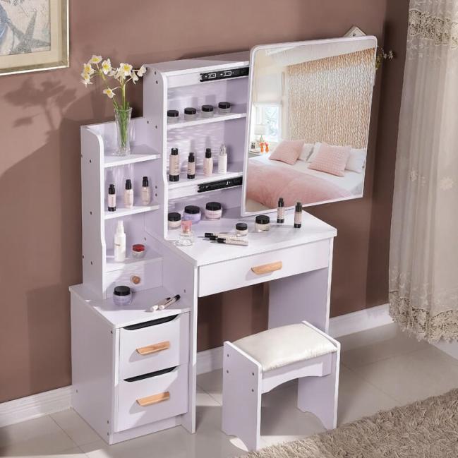 Astonishing modern makeup room ideas #makeuproomideas #makeupstorageideas #diymakeuporganizer