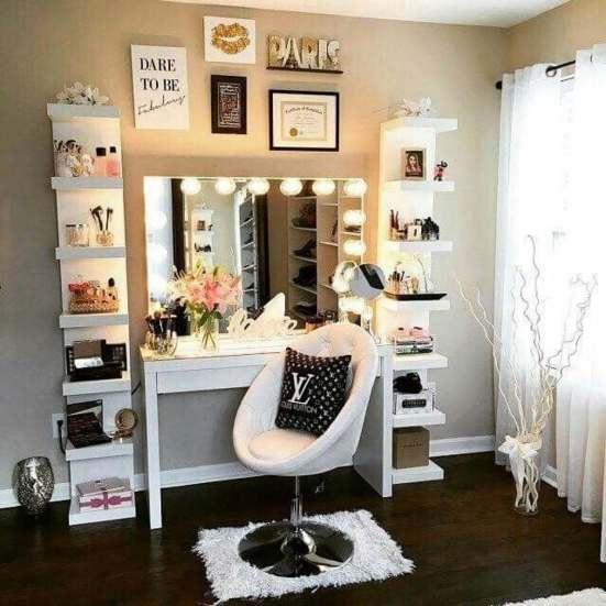 Excited makeup beauty room ideas #makeuproomideas #makeupstorageideas #diymakeuporganizer