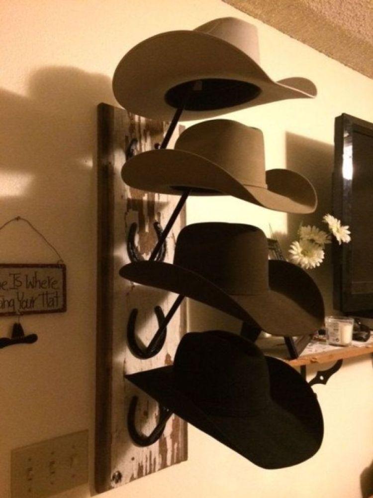 Terrific cowboy hat styles #diyhatrack #hatrackideas #caprack #hanginghatrack