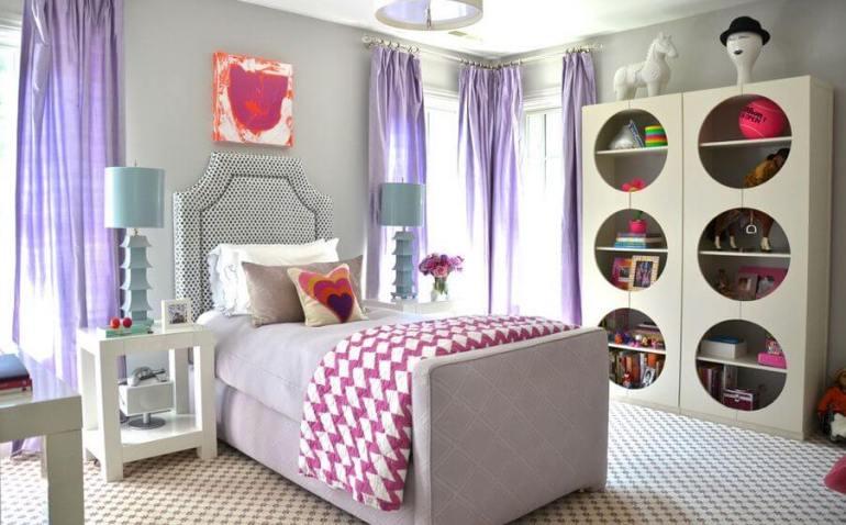 Colorful tween bedroom ideas #cutebedroomideas #bedroomdesignideas #bedroomdecoratingideas