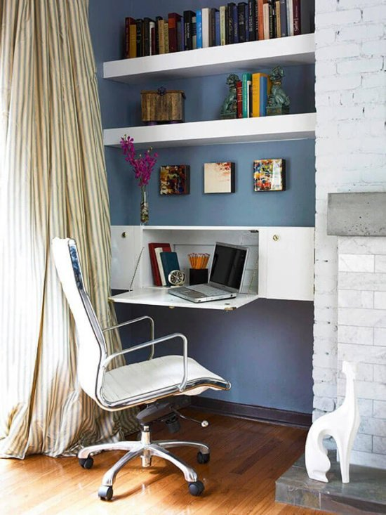 Colorful small home office design layout ideas #homeofficedesign #homeofficeideas #officedesignideas