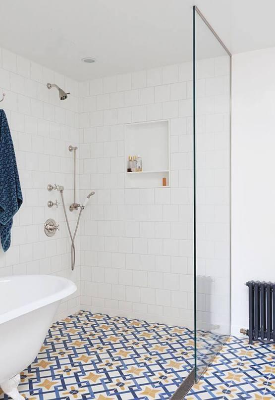 Popular bathroom tile patterns shower #bathroomtileideas #bathroomtileremodel