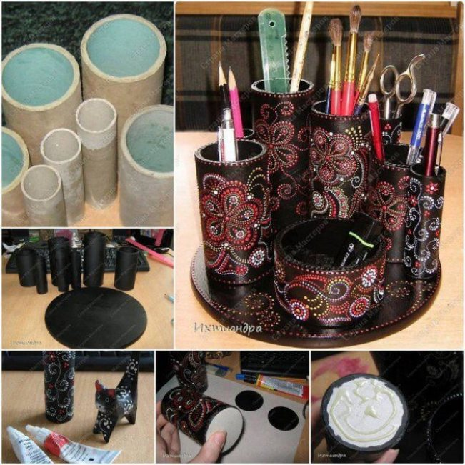 Colorful diy tissue roll crafts #toiletpaperrollcrafts #diytoiletpaperroll #toiletpaper