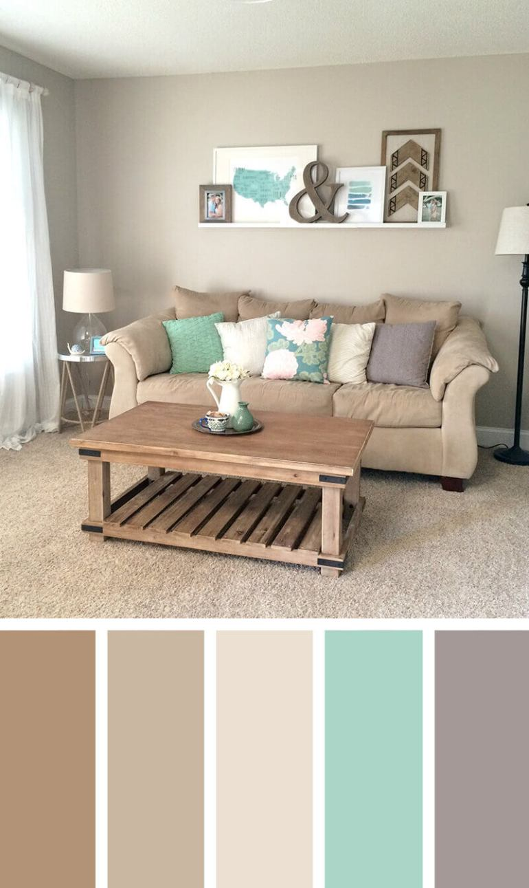 Cool color combination of drawing room #livingroomcolorschemes #livingroomcolorcombination