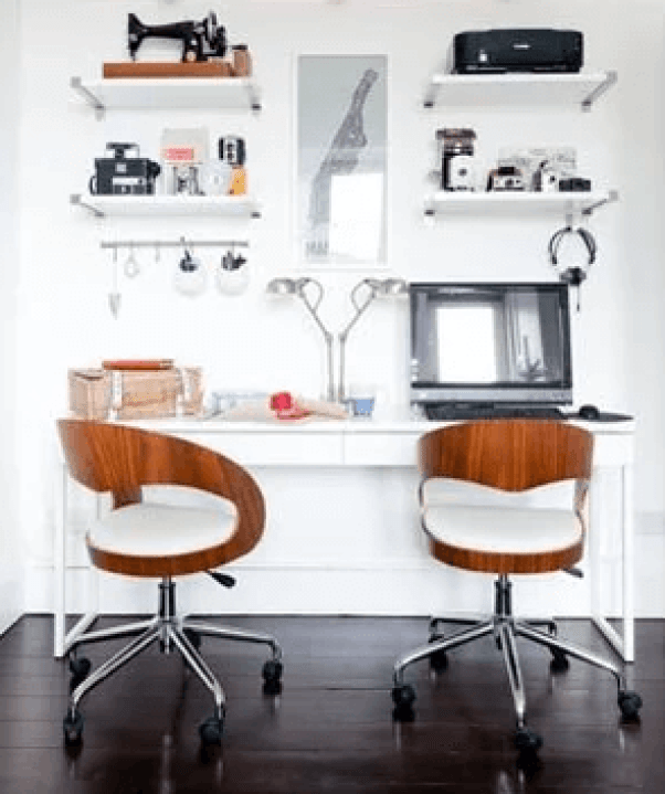 Great ideas for decorating your office at work #homeofficedesign #homeofficeideas #officedesignideas